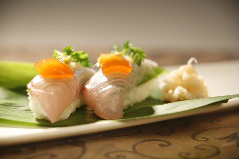Kampachi sashimi.