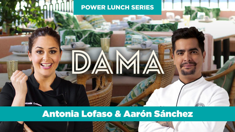 Power Lunch at DAMA with Chefs Antonia Lofaso & Aarón Sánchez