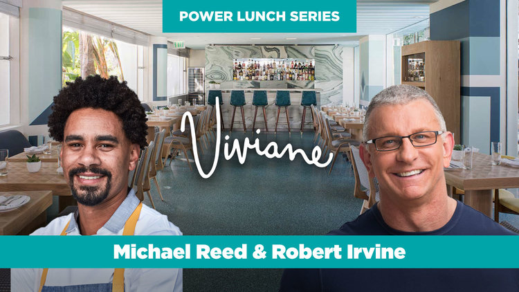 Power Lunch at Viviane at the Avalon Hotel with Chefs Michael Reed & Robert Irvine