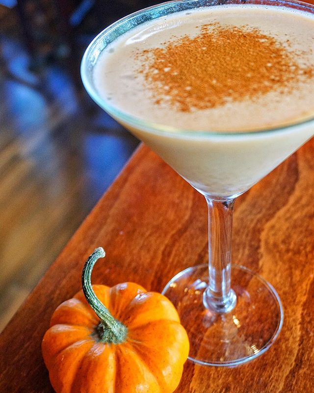 Fall is back and our Pumpkin Martini has hit the bar! Stop by today on this beautiful fall day for a few of these. We promise you won't regret it. 👻😍🎃 #HuntingtonVillage #LongIsland #BlackAndBlueSeafoodChophouse.