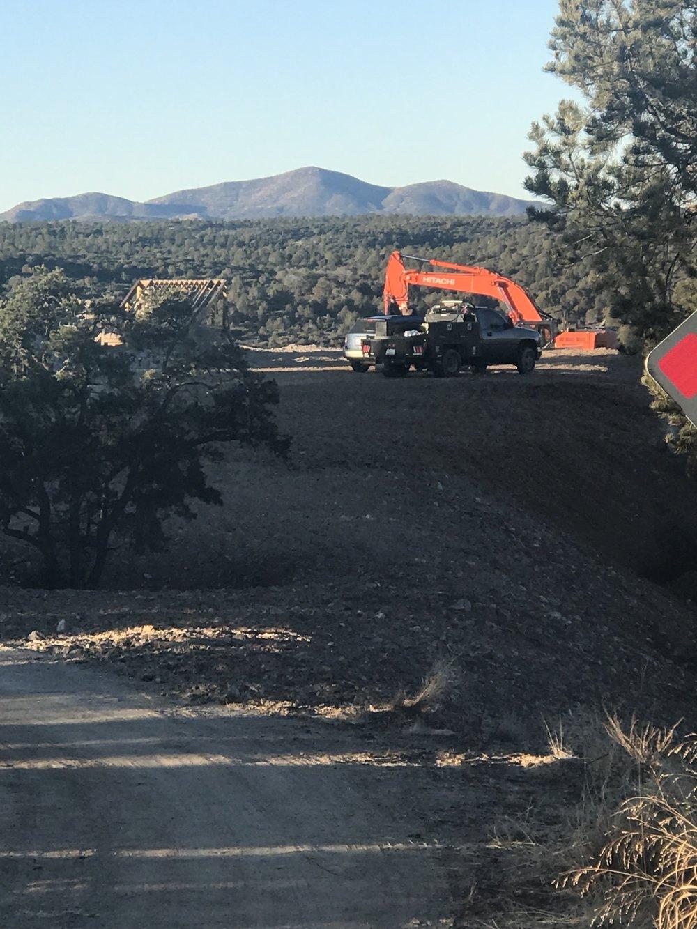 Breaking ground for a custom home in Prescott, AZ