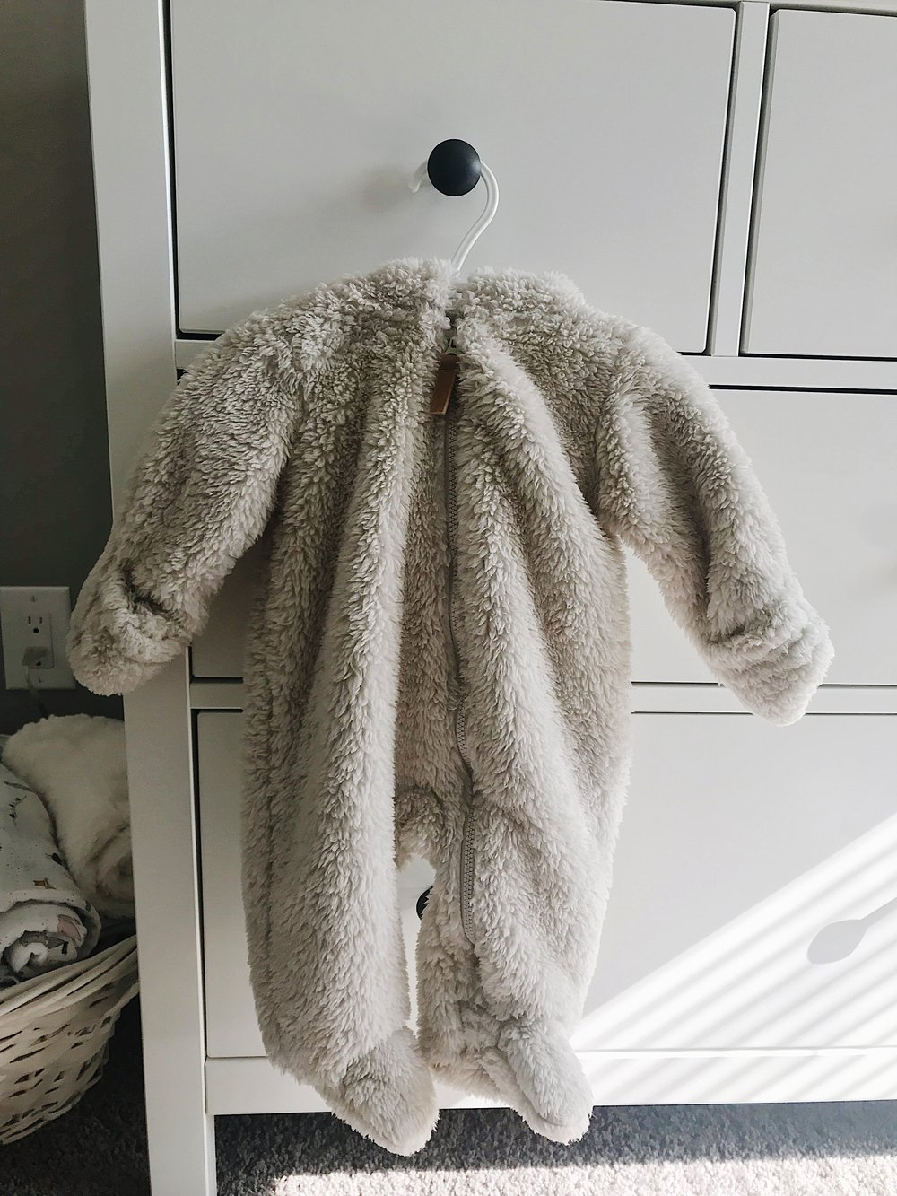 - Seven: A Warm Outfit for Coming HomeAgain, this is something that will probably only apply if you live somewhere cold. Since it has already snowed, I picked up this cute little outfit from Carter's to make sure she is nice and warm on her way out of the hospital!