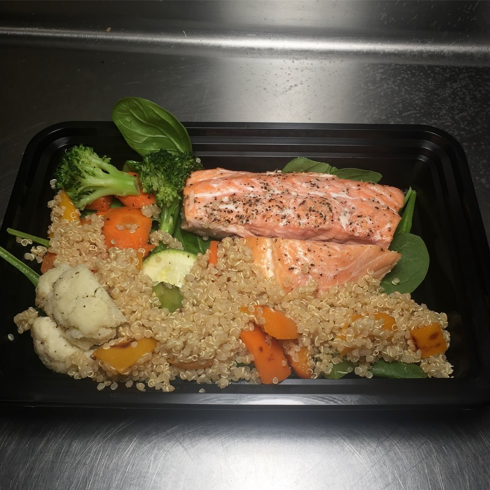 SEASONAL C. Salmon w/ Quinoa Salad