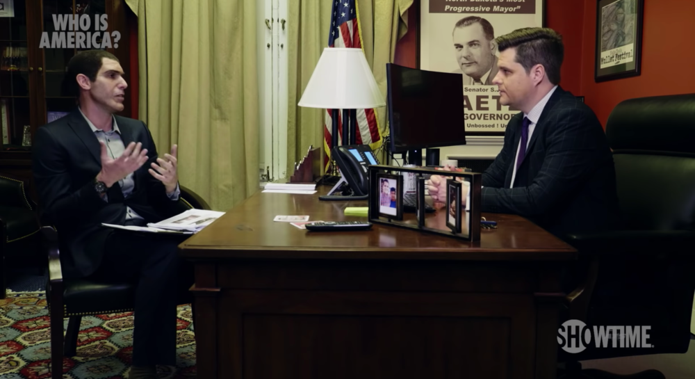 Cohen with Gaetz in his office. Photo courtesy of Showtime