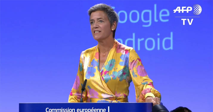 EU Competition Commissioner, Margrethe Vestager. Photo courtesy of  HOTAir