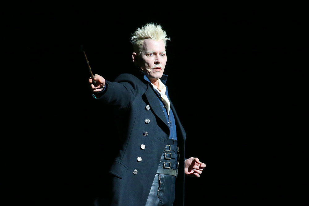 Depp dressed as Gellert Grindelwald at Comic-Con. Photo courtesy of Shutterstock