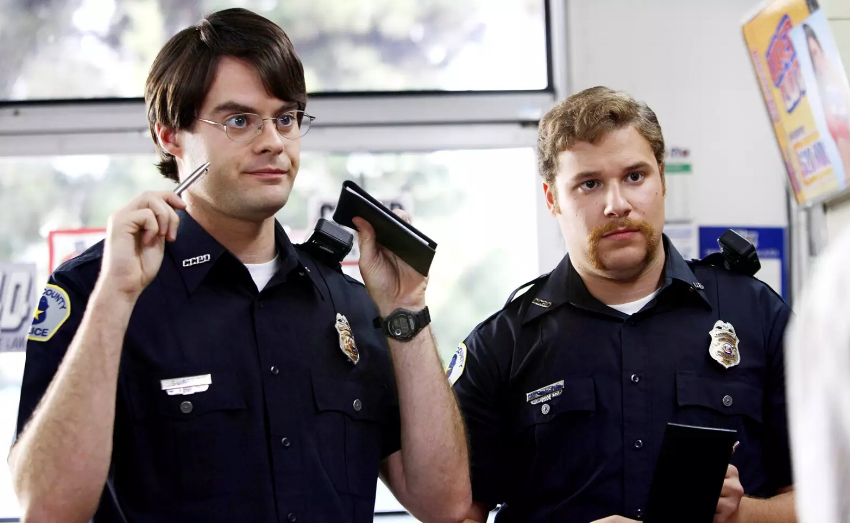 Rogen in  Superbad  and  Neighbors