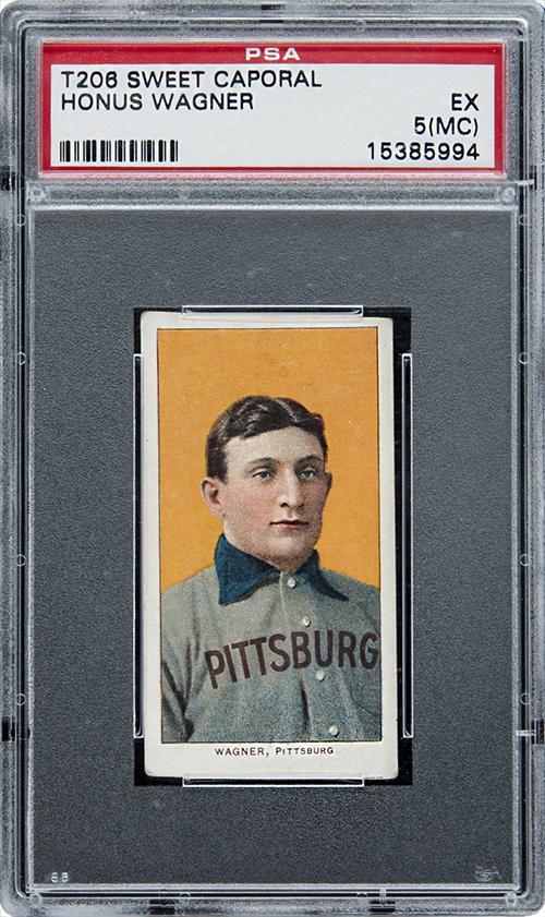 T206 Honus Wagner baseball card. Photo courtesy of Beckett