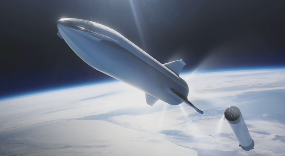 Big Falcon Rocket (BFR). Photo courtesy of SpaceX