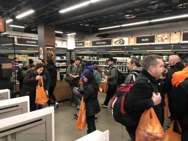 Amazon Go in Seattle. Photo courtesy of  GeekWire