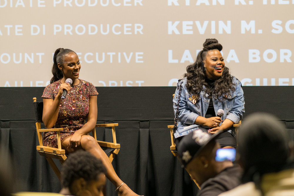 Post-screening Q&A with Tika Sumpter and Amber Riley. Photo courtesy of Will Jellicorse