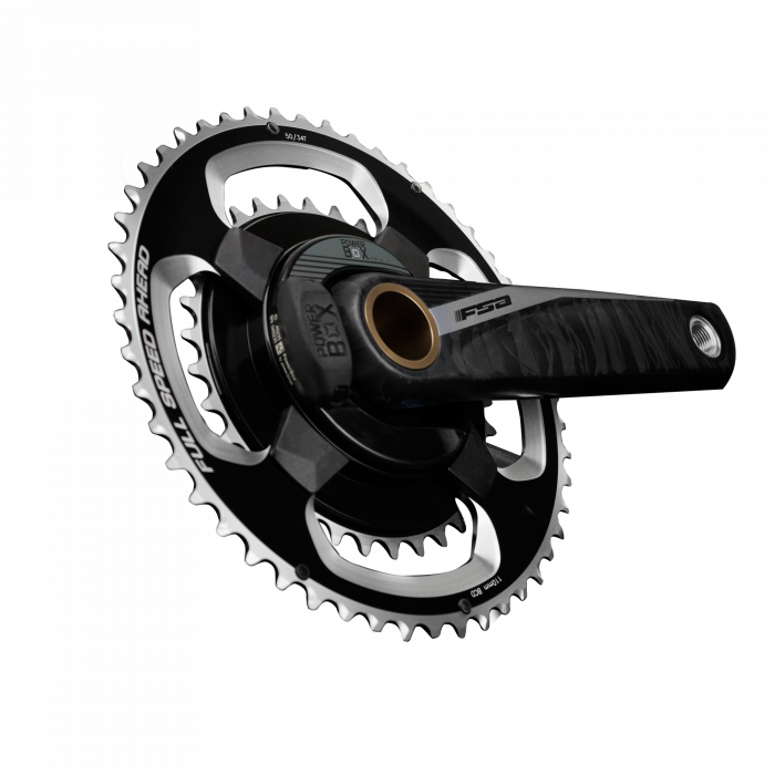 Powerbox Carbon -  FSA's ROAD PowerBox Carbon Crankset employs a P2M convertible spider design for multiple chainring options. FSA's hollow carbon arms and BB386EVO spindle mated together produce a very lightweight, extremely versatile power meter crankset available with a double chaining configuration.