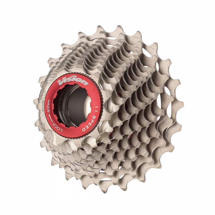 Metron 11spd - Designed to work in perfect harmony with the Vision Metron aero shifters and Vision Metron carbon derailleur, the Metron 11-speed cassette uses steel pins to join the cogs into a hollow construction for lightweight and durabilit