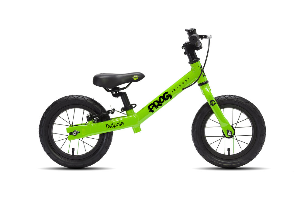 Tadpole - The perfect first bike for your toddler- the Tadpole balance bike best suits 2 and 3 year olds with a minimum inside leg of 31cm