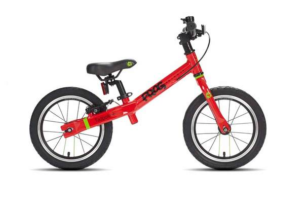 Tadpole+ - The Tadpole + is a great first bike and helps the child to achieve the necessary balance to cycle. The Tadpole + is suitable for children aged 3 and 4 with a minimum inside leg of 38cm