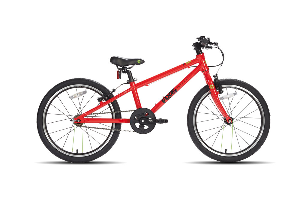 Frog 52 Single Speed - The first pedal 52s is a great value bike for 5-6 year olds with a minimum inside leg of 52cm. This bike is a great confidence booster for a taller child that hasn't quite learnt to cycle yet. It can also be used as a balance bike by removing the pedals