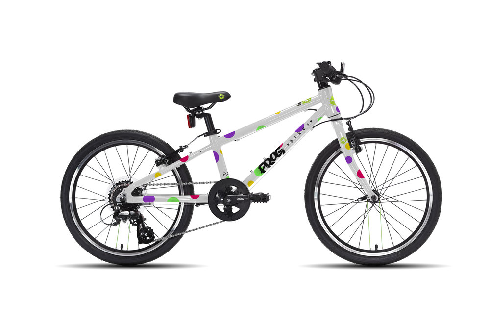Frog 52 - This 20 inch kids' bike is the ideal multi purpose geared bike for 5 or 6 year olds with a minimum inside leg of 52cm