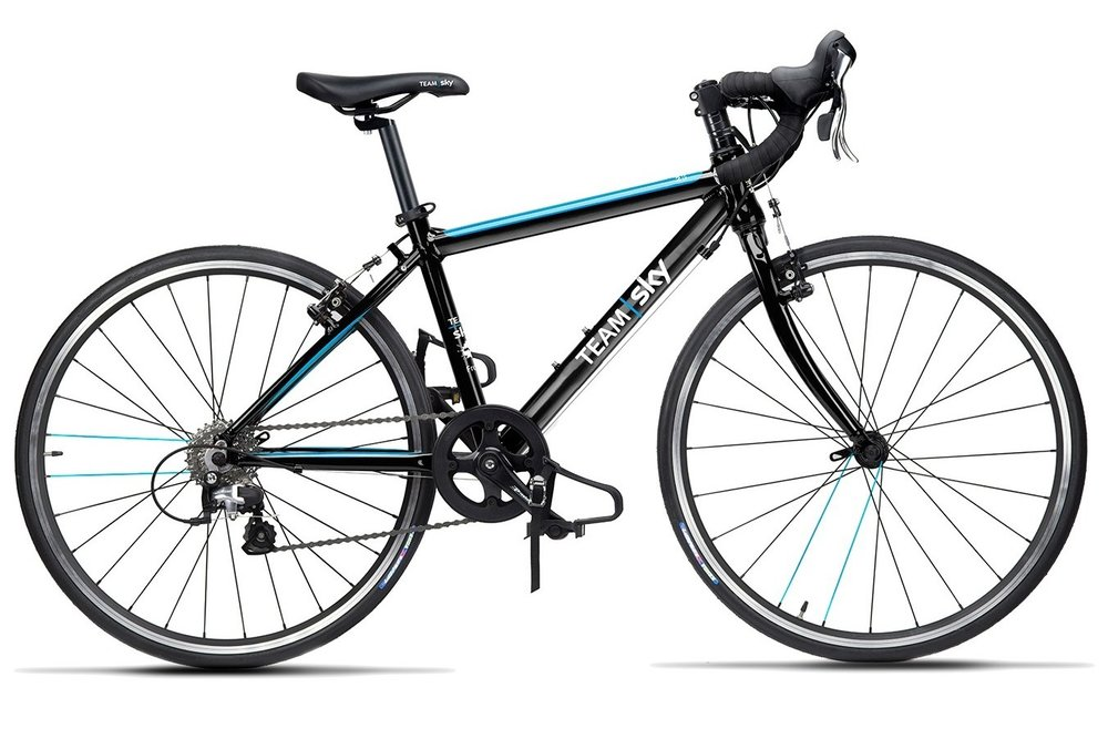 Frog Road 67 Team Sky - This 24 inch kids' road bike is best suited for kids aged between 8 and 12 years old with a minimum inside leg of 67cm