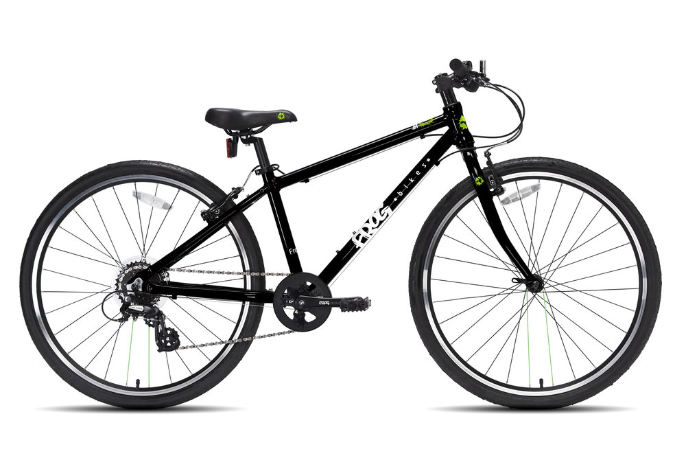 Frog 69 - This 26 inch kids' bike is a great hybrid for 10-12 year olds with a minimum inside leg of 69cm