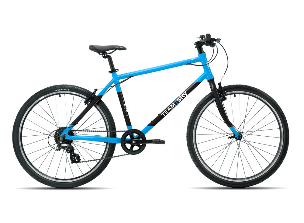 "Frog 78 - This 26"" wheel junior hybrid bike is a great multi-purpose bike suitable for juniors aged 13+ years old with a minimum inside leg of 78cm."