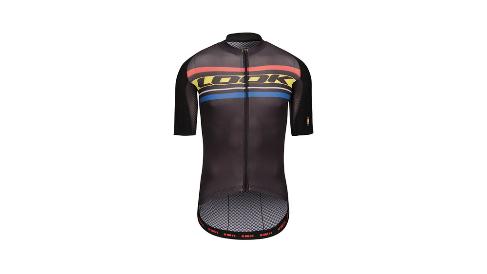 LOOK Replica Aero Jersey - Men's jersey. Aero fit/ 3 back pockets with magnetic clip closure / Bicep covering sleeves / Non-slip silicon waistband/ Skin Fabric protection on the shoulders, 40% more abrasion resistant.