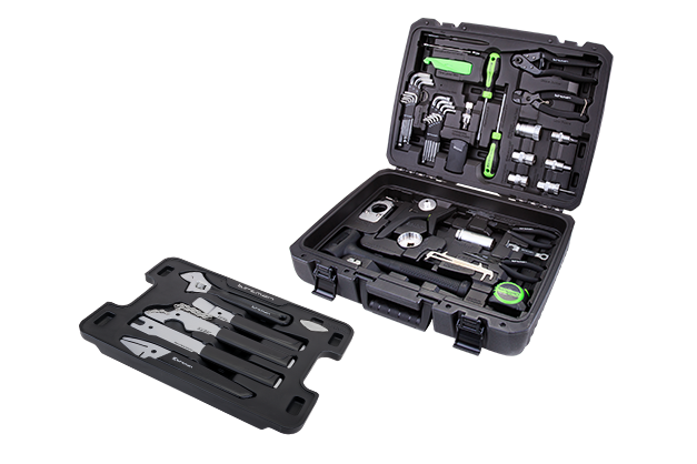 Studio Tool Box - A carefully selected combination of quality tools for both general maintenance and basic repairs as well as advanced repair/replacement tasks. Designed for shop professionals or home mechanics, this heavy-duty PE case contains 37 pieces from Birzman's portfolio of high performance tools, fitted in blow-molded tool pallets for betterprotection and organization.