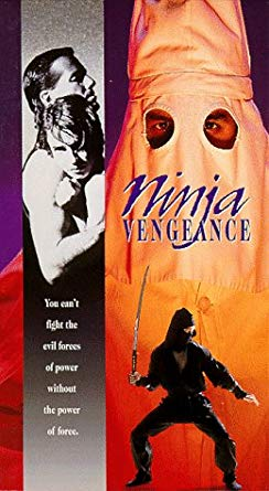 Ninja Vengeance - By Shae KonnitNinja Vengeance is almost like a fever dream of a film, helped in no small part by the incredibly poor lighting.This weird tale of an amateur ninja, on his way to a ninja convention, saving a small town from corruption and the KKK, has featured on Red Letter Media's Best of the Worst, but I saw it years ago when Bravo was still a channel.The most memorable scene was a battle round a bonfire, with our ninja hero rolling around and tripping up klansmen as they shout