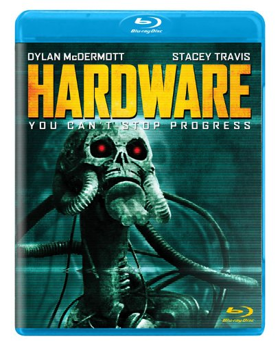 "Hardware - By Adam M. WilcoxSometimes you review a movie you love so much, that you find it hard to talk about, because you are afraid that you will not give the movie enough justice. A lot of work was put into this masterpiece, that holds up surprisingly well on a low budget. It doubled its budget and put director Richard Stanley on the map as more of a serious filmmaker rather than just a music video director.Cyberpunk is quite often taboo in science fiction, or even independent movies. Nobody wants to deal with the harsh cynical and dystopian outlook of a society that has bastardized technology, consumed every natural resource, and even compassion has become an outmoded concept. Then there are some lunatics out there that love the art style that surrounds it like yours truly.To do this review proper justice, I have to take you back to where this movie first impacted me, and gave me a feeling that still has not gone away. James Cameron's movie The Terminator had a HUGE impact on me. I was maybe 10 or 11 when I first saw it. I had never seen something so dark, brutal and awesome as that movie before. I wanted more, and there were plenty of nock offs but I didn't see them until much later. I also was HUGELY influenced by John Carpenter's Escape from New York, and the first 3 Mad Max movies. Hardware is similar in comparison to these films, but operated on a lower budget, yet managed to evoke a visual style, that is unlike all of the others I have mentioned.When I first saw Hardware, I was a freshman, or sophomore in High School, and I suffered from chronic insomnia. Often I would flip on the TV at night until I would drift off to sleep. TVs in the early 90s had boxes, and we had HBO, and Cinemax, but they didn't have scrolling menus. We had no internet at this time. We didn't bother with TV guide. Sometimes we would have maybe a cut out from the newspaper, but it didn't print much past 1am. So if you wanted to know what was on, you had to catch the very beginning of the movie, or maybe catch the ""coming up next"" screen that showed in between films on HBO. For years, I would catch this movie on super late at night, always inconveniently after the movie already started, and it became a mission in my life to figure out the name of this movie. I was so totally blown away by it. The visuals took my breath away. The music was incredible. I was already a Ministry fan in the early 90s, but I thought it was weird that they would play it over a GWAR video, and then Lemmy from Motörhead shows up? This movie is incredible. Now anybody who grew up in the 90s would have to remember the PAINFUL process of trying to describe a song to a music store clerk by either humming the song. So if you would say: ""I don't know the song name or artist, but there are a lot of synthesizers, bass, a steady cadence of a drum beat, and some guy keeps saying ""this is what you want this is what you get"" over and over and over again, they would look at you like you were tripping balls, and make an excuse to not help you. No person ever found that song for me, and funny it wouldn't be later until I would finally find and purchase the song ""The Order of Death"" by Public Image LTD, which doesn't sound much like the band's other stuff at all really. I had to use the internet to find a song from the 90s. Eventually I figured out the name of the movie by finally catching it on TV before it showed, and the description perfectly outlined the plot. I recorded it, and for years, that was my only copy. It wasn't until around 1996 when I found a really beat up VHS copy of this movie in a pawn shop that looks like it may have belonged to a video rental place at one point. Somewhere around October of 2009, I finally saw a Blu-ray copy of this movie for sale at Best Buy or something, and didn't even bother to look at the price. As of the time of this writing, it is my only copy of Hardware. I never had it on DVD, and my VHS player ate the tape beyond repair. The Blu-ray copy is perfect. It also introduced me to the wonderful and weird Richard Stanley himself, as well as how he got into film, and made this movie.Hardware is visually stunning but it is based on a relatively simple story originally published in the European comic series 2000AD. A scavenger; Nomad finds a robotic skull in the desert wasteland, sells it to soldier Mo Baxter, who gives it to his girlfriend for Christmas who happens to make her sculptures out of old tech. The skull turns itself on, and uses appliances in the house to rebuild itself along with recalling all the other missing parts. The skull, now turned robot with a strangely painted head, and poison syringes that resemble fangs, goes on a killing spree that takes place entirely inside an apartment building. That is basically it! There are a series of several unfortunate circumstances that happen along the way that make it visually awesome, but that is basically the movie. You could say this movie has some similarities to Alien, or Terminator, but it really is its own thing. It has some very gory moments, and maybe a little bit of sex and nudity, but if you have read this review this far, none of that is going to turn you off, at all, in fact that might be a selling point. In fact, the shower scene with Dylan McDermott, and Stacey Travis might be one of the hottest sexiest love scenes I have ever seen in my entire life, even better than porn. Ironically, the shower scene becomes a stage for some iconic action and imagery that happens later in the film.While this movie now has a very distinguished cult following now, I still don't feel like this movie gets mentioned enough. When you talk about Cyberpunk, you always hear about Terminator, Robocop, Blade Runner, all fine films, but also films with much larger marketing and budgets. The fact that this movie is able to do so much on such a low budget, with an extremely talented visual director, is almost kind of depressing. The world right now, needs more movies like Hardware. Not just this story, but proof that all movie budgets don't have to be made with enough money to fund a small country. In fact, it might kind of piss you off. I never tire of this movie, and every time I watch it, it feels like the first time. 5 out of 5 possible cheese curds. Buy this movie on Blu-ray, but at the very least, rent it, or see it next time it pops up in a streaming service, or cable channel. Make it your life's mission to see this movie!So if dark gothic dystopian violent science fiction is what you want, this is what you get!"