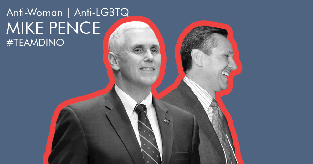 Trump's right-hand man and most anti-LGBTQ, anti-woman minion. -