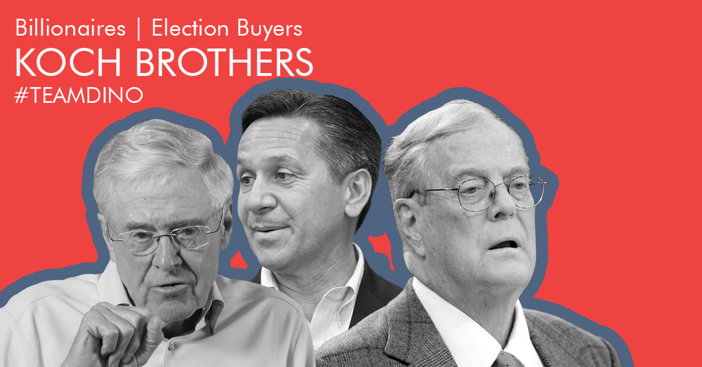 Duo of billionaire financiers who buy elections for Republicans. -