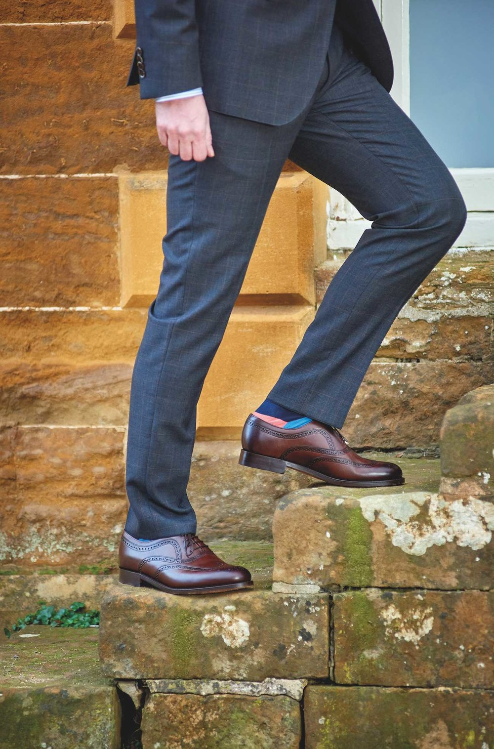 Footwear - Make a statement with your footwear with our collection of premium leather shoes from some of the finest shoemakers around such as Barker and Loakes, with styles ranging from elegant hand painted brogues, classic Oxfords through to loafers.