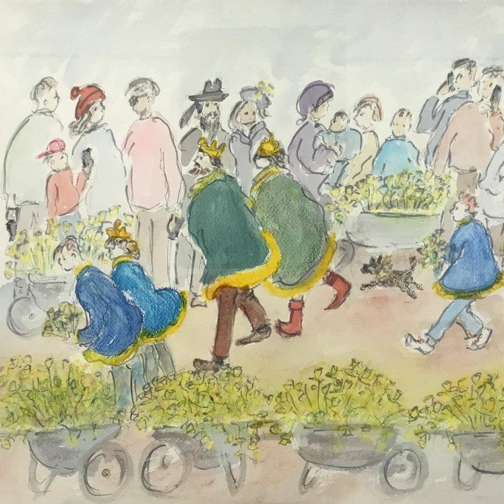 The Daffodil Festival King and Queen Elizabeth Darling