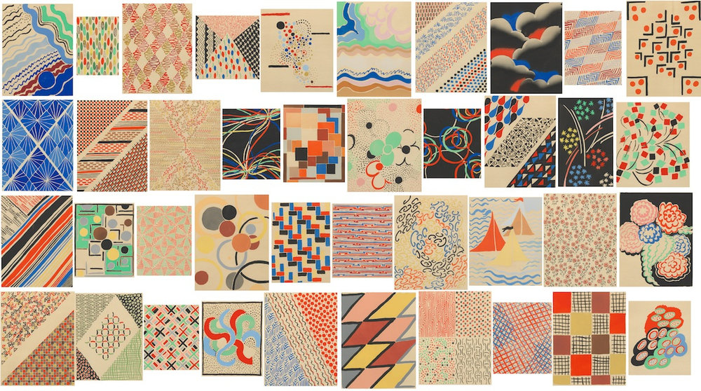 a collage of sonia delaunay`s compositions