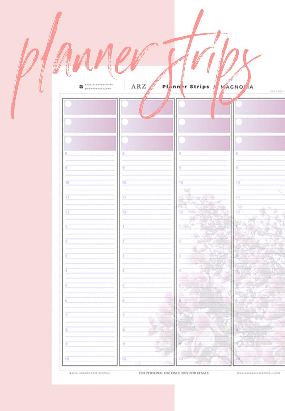 Planner Strips for The Happy Planner™ | Amanda Zampelli