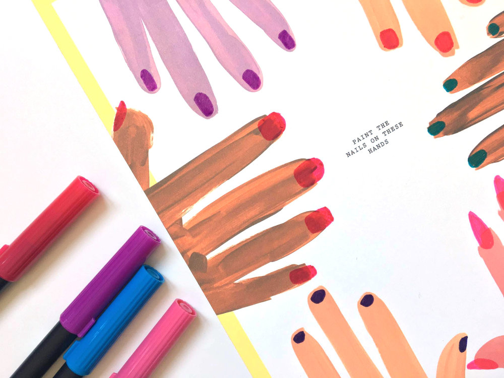 Painted Hands | Amanda Zampelli