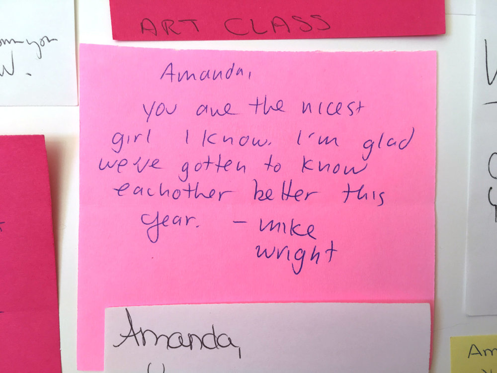Valentines notes from high school | Amanda Zampelli