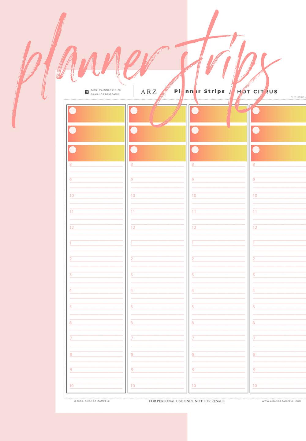 06 planner strips for The happy Planner  | Amanda Zampelli .jpg