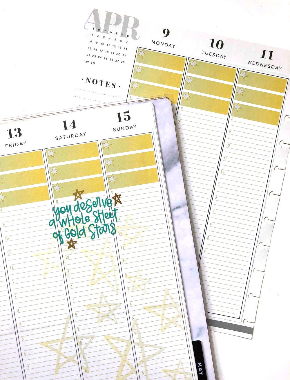 APRIL 2018 Planner Strips for The Happy Planner™ | Amanda Zampelli
