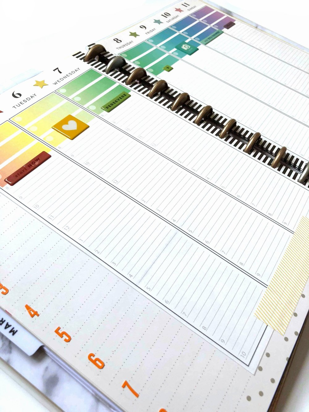 MARCH 2018 Planner Strips for The Happy Planner™ | Amanda Zampelli