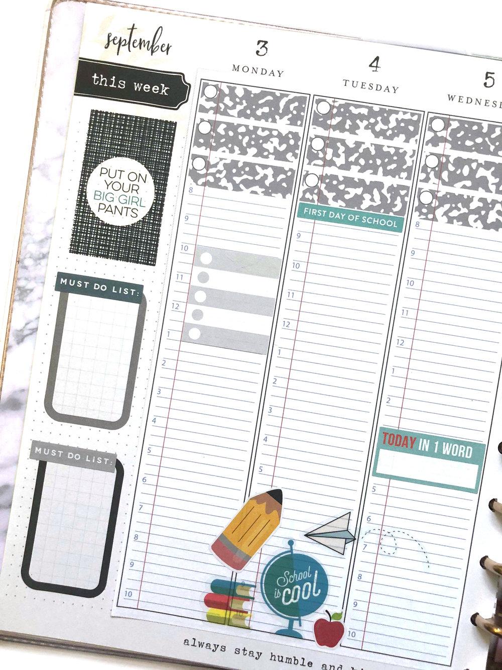 SEPTEMBER 2018 PLANNER STRIPS for The Happy Planner™ | Amanda Zampelli