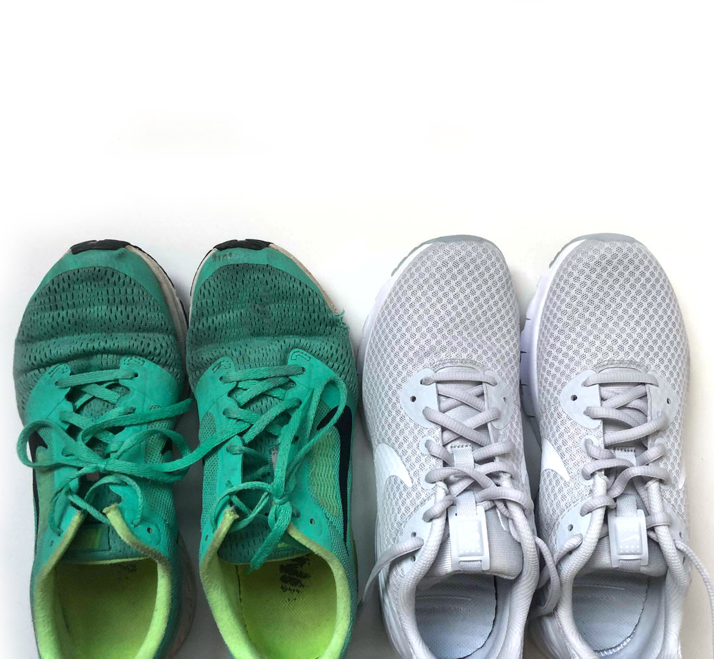 out with the old (sneakers), in with the new | Amanda Zampelli