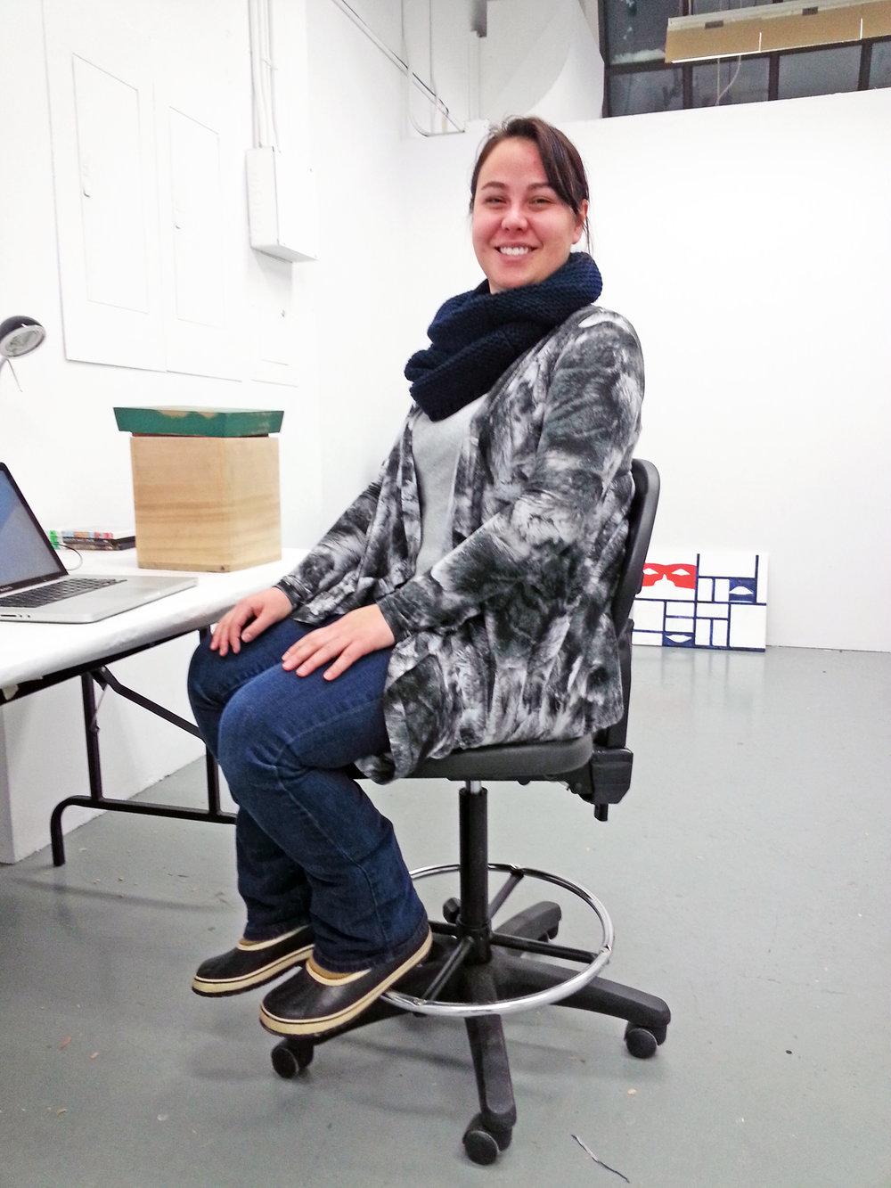 Alison Bremner in her Banff studio