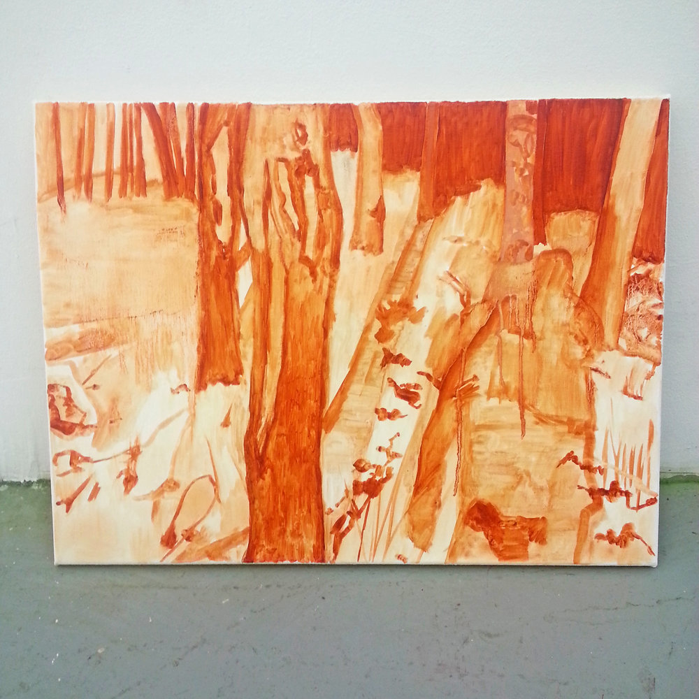Underpainting, 18″ x 24″