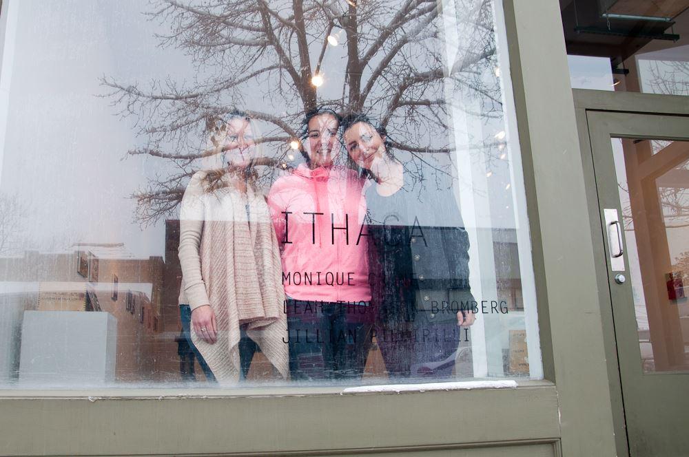Monique Crine, Leah Thomason Bromberg, and Jillian Piccirilli preparing for  Ithaca  (Denver, Colorado)