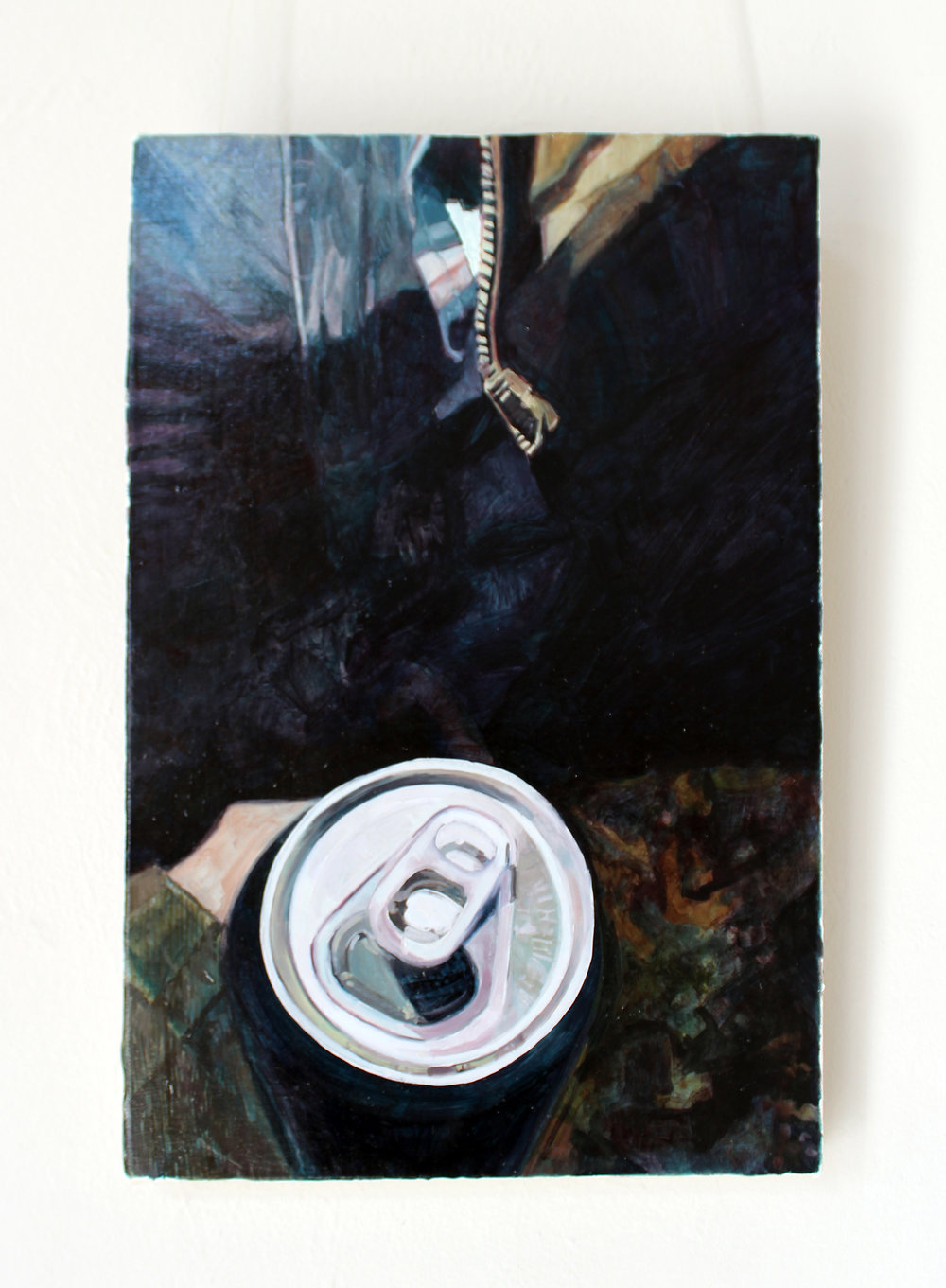 Back in Black (IPA in the winter), 2017, oil on canvas, 45 cm x 30 cm