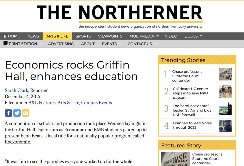 Economics rocks Griffin Hall, enhances education - Read More
