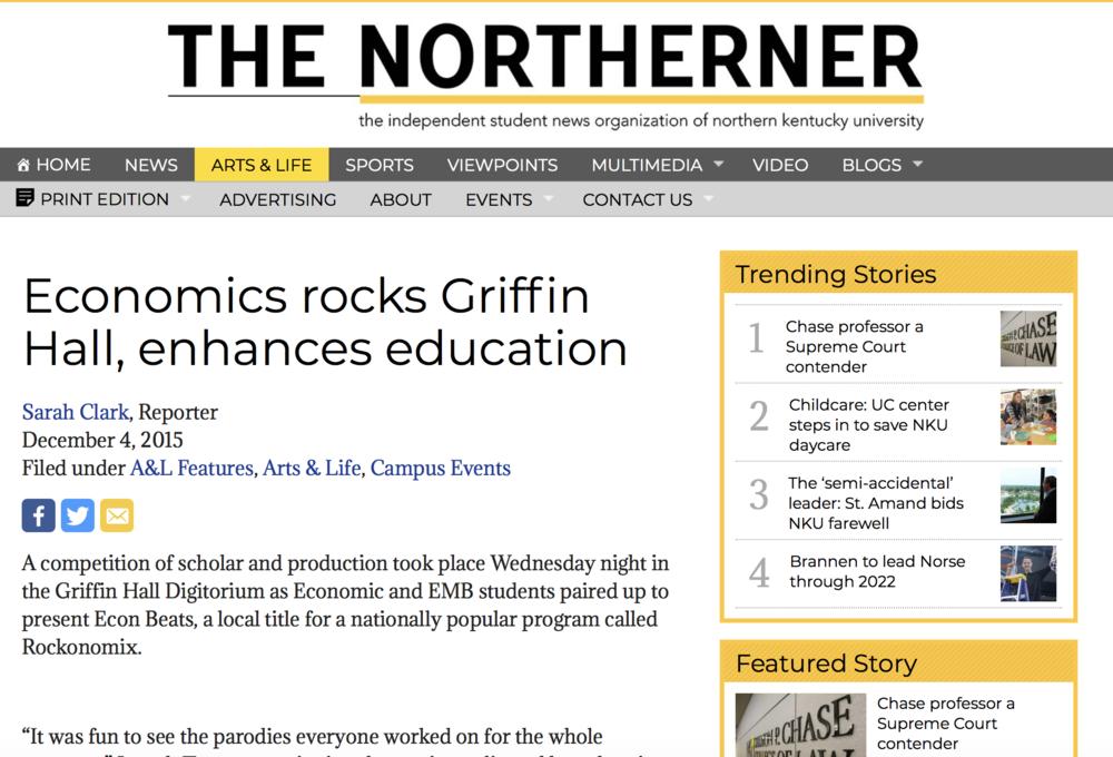 Economics rocks Griffin Hall, enhances education - Read More