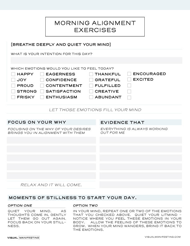 morning alignment exercises - Start your day the aligned way!