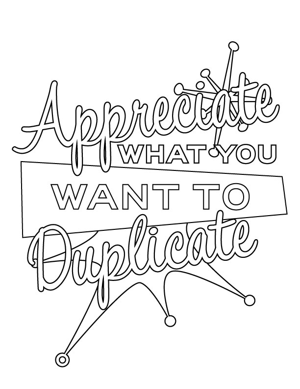 Appreciate-Duplicate-Coloring Pages Law of Attraction