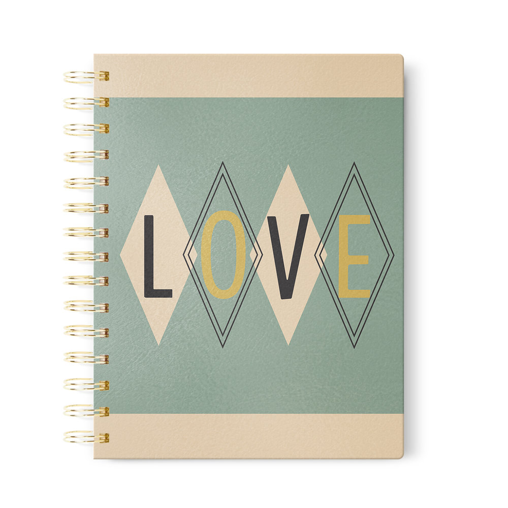 Retro Love Journal    in Dot Grid, Lined or Blank